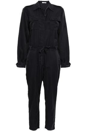A.L.C. Belted silk and cotton-blend jumpsuit