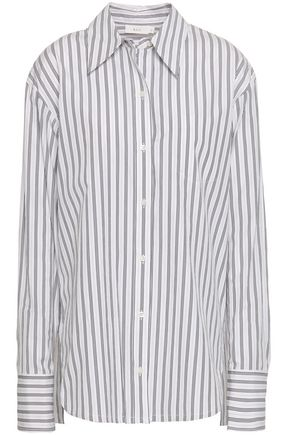 A.L.C. Striped cotton-poplin shirt