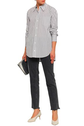 A.L.C. Striped cotton-poplin shirt