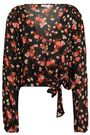 A.L.C. Carla floral-print silk-georgette wrap top