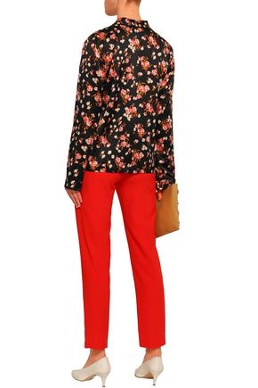 A.L.C. Leomie floral-print stretch-silk satin shirt