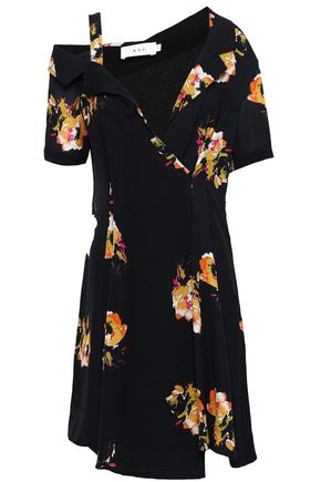 A.L.C. Cutout floral-print silk-crepe mini dress