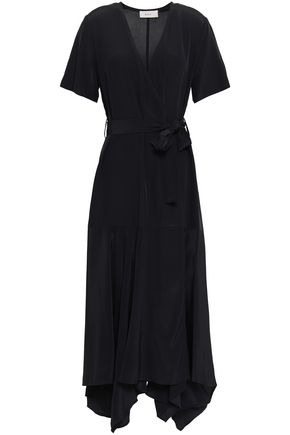 A.L.C. Draped silk-crepe maxi wrap dress