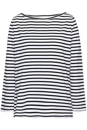 A.L.C. Striped cotton-jersey top