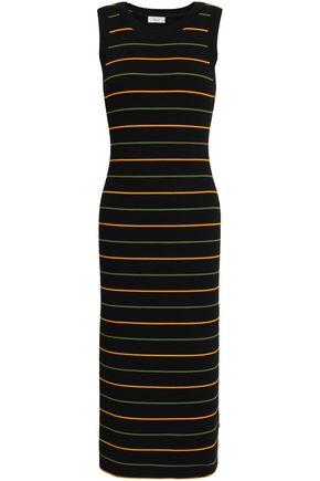 A.L.C. Striped ribbed-knit midi dress