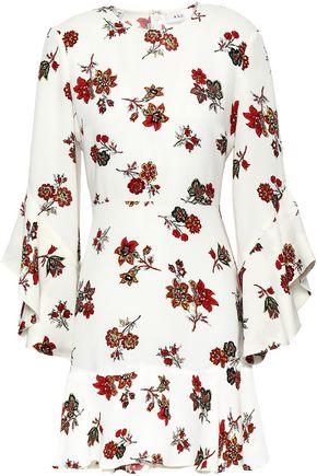 A.L.C. Fluted floral-print silk-crepe mini dress