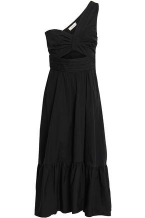 A.L.C. One-shoulder cutout cotton-poplin midi dress