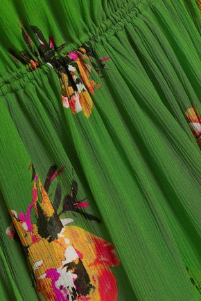 A.L.C. One-shoulder floral-print silk-georgette midi dress