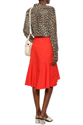 EQUIPMENT Leopard-print silk crepe de chine shirt