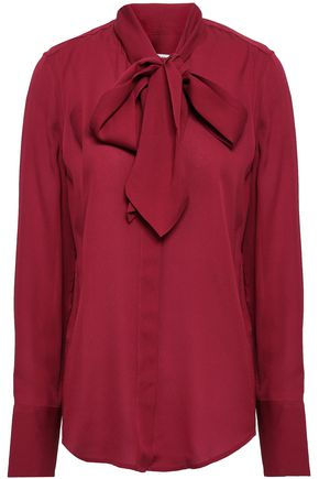 EQUIPMENT Pussy-bow silk-crepe shirt