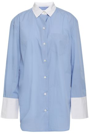 EQUIPMENT Two-tone cotton-poplin shirt