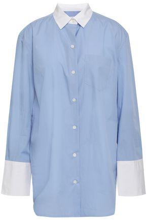 EQUIPMENT Two-tone cotton-poplin shirt