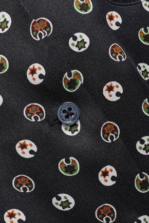 EQUIPMENT Printed silk-satin shirt