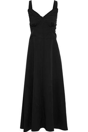 JOSEPH Greer open-back silk-paneled crinkled-crepe midi dress