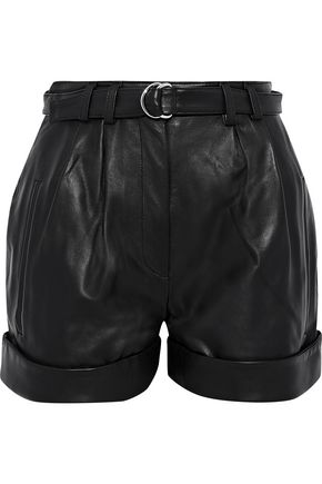 ROBERT RODRIGUEZ Belted leather shorts