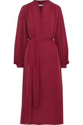 EQUIPMENT Francois belted silk crepe de chine midi dress