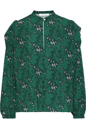 ROBERT RODRIGUEZ Floral-print cady blouse