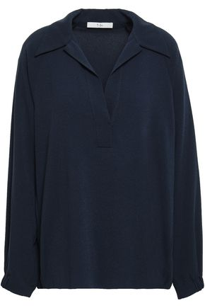 TIBI Savanna stretch-crepe blouse