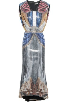 MARY KATRANTZOU Sequined tulle midi dress