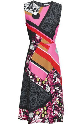 MARY KATRANTZOU Printed cady midi dress