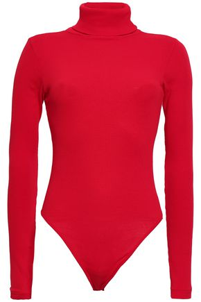 RE/DONE Ribbed cotton-jersey turtleneck bodysuit