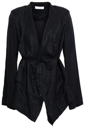 IRO Belted silk-jacquard jacket