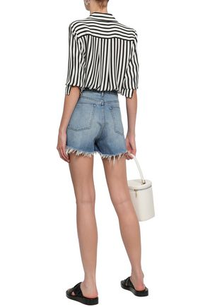 3x1 Carter Chereen frayed denim shorts