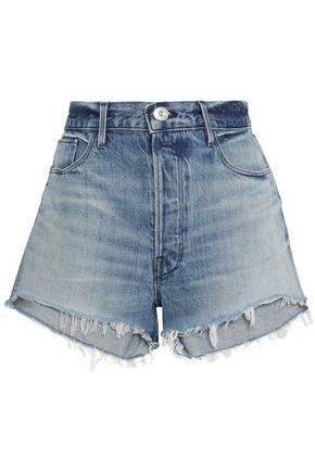 3x1 Carter Chereen frayed denim shorts