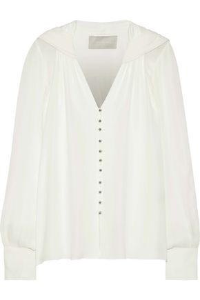 JASON WU Gathered silk-chiffon blouse
