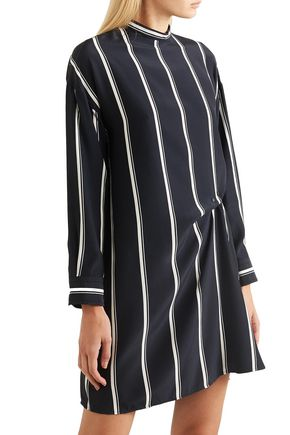 RAG & BONE Jacklin gathered striped silk mini dress