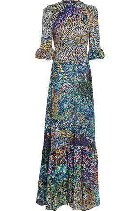MARY KATRANTZOU Silk-blend devoré maxi dress