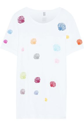 ROSIE ASSOULIN Embroidered Pima cotton-jersey T-shirt