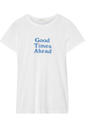 RAG & BONE Good Times printed Pima cotton-jersey T-shirt