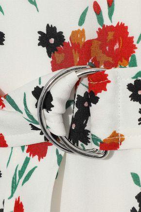 A.L.C. Richards tiered floral-print silk crepe de chine midi dress