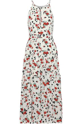 A.L.C. Richards tiered floral-print silk crepe de chine midi dress