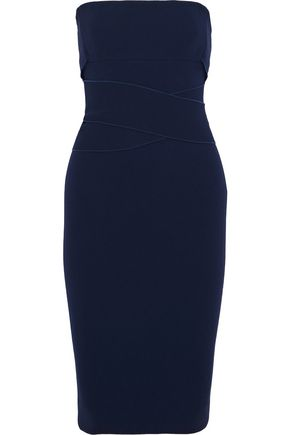 VICTORIA BECKHAM Strapless tie-back crepe dress