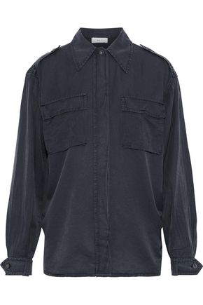 A.L.C. Rocky washed silk and cotton-blend shirt