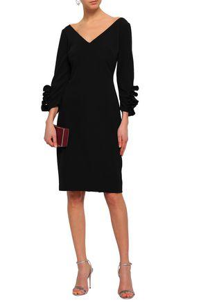 BADGLEY MISCHKA Ruffle-trimmed ponte dress