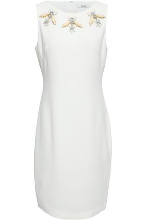 BADGLEY MISCHKA Embellished crepe dress