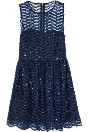 ALICE + OLIVIA Daisy sequin-embellished tulle mini dress