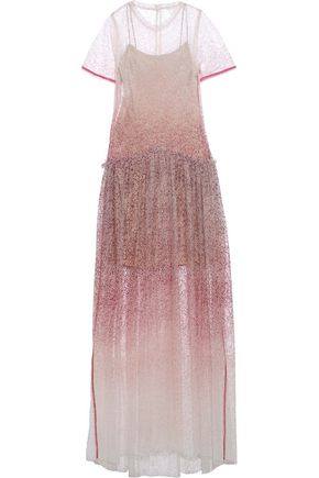 ROSIE ASSOULIN Embellished dégradé tulle gown