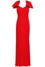 BADGLEY MISCHKA Gathered crepe gown