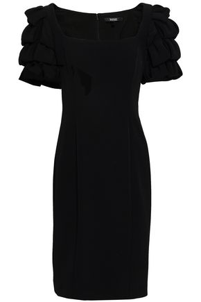 BADGLEY MISCHKA Ruffled stretch-crepe dress
