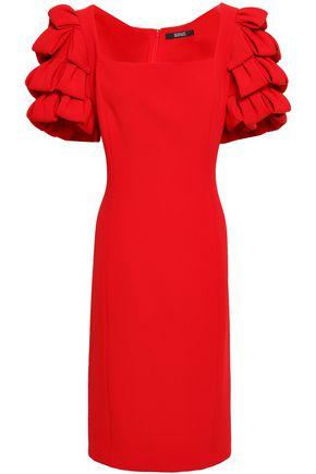 BADGLEY MISCHKA Ruffled stretch-crepe dress