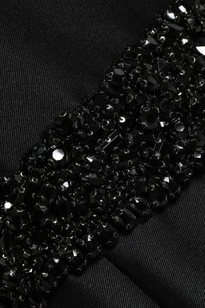 BADGLEY MISCHKA One-shoulder ruched faille gown