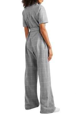 LELA ROSE Checked cady jumpsuit