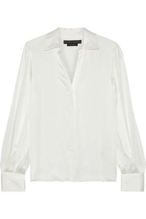ALICE + OLIVIA Shanda stretch-silk satin shirt