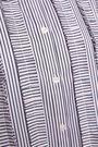 ADAM LIPPES Ruffle-trimmed striped tunic