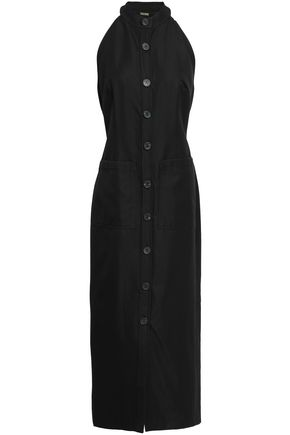 ADAM LIPPES Wool-blend tulle midi dress