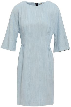 ADAM LIPPES Pleated denim mini dress